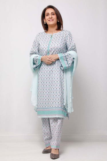 1PC Unstitched Printed Lawn Fabric SL-910 A