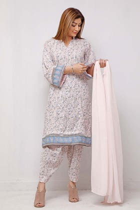 1PC Unstitched Printed Lawn Fabric SL-913 A