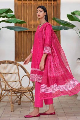 3PC Unstitched Printed Lawn Suit with Lawn Dupatta CLP-144 A