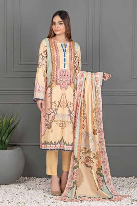 3PC Unstitched Printed Lawn Suit with Lawn Dupatta CLP-12043 A