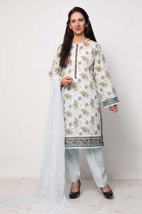 1PC Unstitched Printed Lawn Fabric SL-915 A