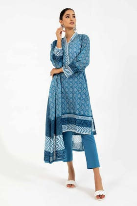 3PC Unstitched Printed Lawn Suit with Lawn Dupatta CLP-144 B