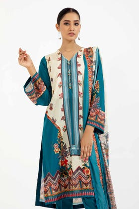 3PC Unstitched Printed Lawn Suit with Lawn Dupatta CLP-124 B