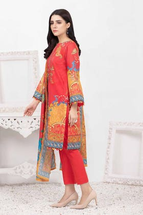 3PC Unstitched Printed Lawn Suit with Lawn Dupatta CLP-126 A