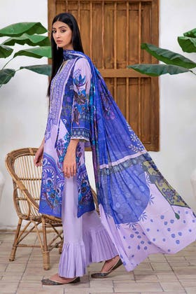 3PC Unstitched Printed Lawn Suit with Lawn Dupatta CLP-125 B