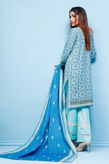 2 PC Unstitched Digital Printed Khaddar Suit WNST-01