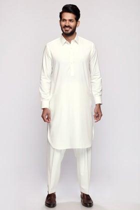 Off White Unstitched Fabric SUPER SOFT QC-NI