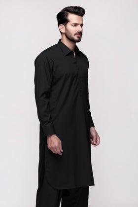Black Unstitched Fabric US PIMA