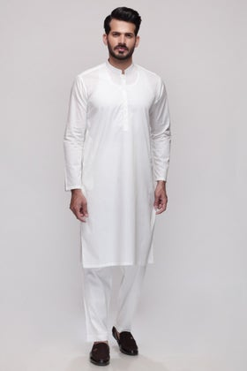 Off White Unstitched Fabric Shaleen SJ-003