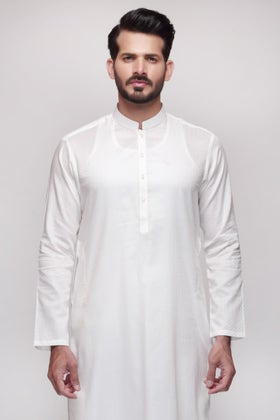 Off White Unstitched Fabric Shaleen SJ-002