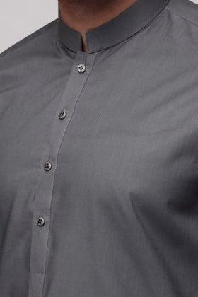 Dark Grey Unstitched Fabric LEADER LATHA
