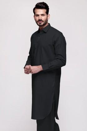 Black Unstitched Fabric COUNCILOR 20