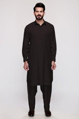Black Unstitched Fabric GUL ALLURE Y