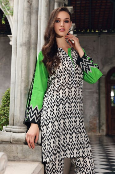 Cambric Printed Unstitched Shirt SCN-130 B