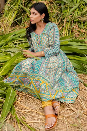 1PC Unstitched Printed Lawn Fabric SL-873 A