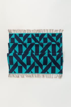Aqua Blue Yarn Dyed Rug