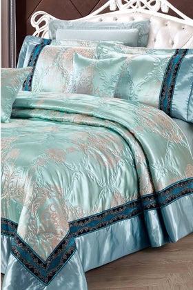 AQUAMARINE Jacquard Bedspread Set