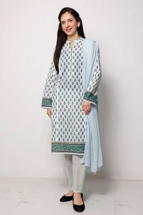 1PC Unstitched Printed Lawn Fabric SL-916 A