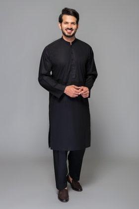 Black Unstitched Fabric PORCHSE