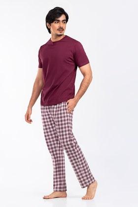 Premium Cotton PJ Set with Round Neck Tee WG-LW-21-06 A