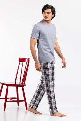 Premium Cotton PJ Set with Round Neck Tee WG-LW-21-06 C