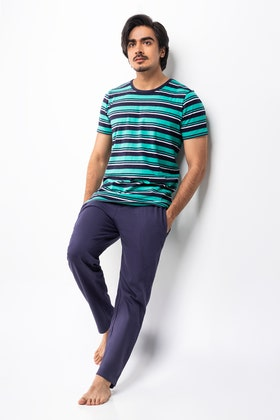 Stripe Tee With Relax Trouser WG-LW-21-04 B