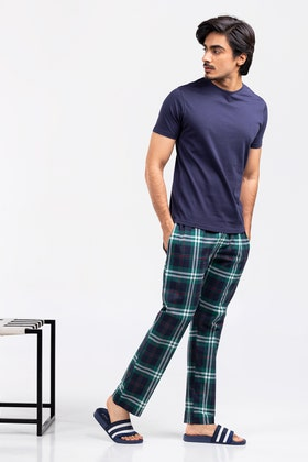 Premium Cotton PJ Set with Round Neck Tee WG-LW-21-06 B