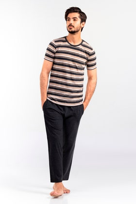 Stripe Tee With Relax Trouser WG-LW-21-04 A