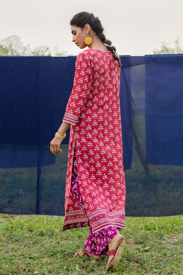 1PC Unstitched Printed Lawn Fabric SL-895 A