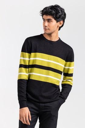 Black-Green Fashion Sweater FS-SWT-VPN-FD-437-01