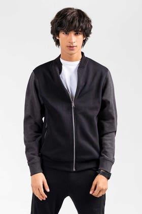 Black Grey Zipper Jacket JKT-MNZ-81-01