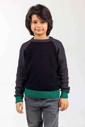 Black-Grey Fashion Sweater FS-KIDS-SWT-FD-42-01