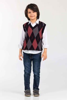 Black-Grey Fashion Sweater SL-KIDS-SWT-FD-01-01
