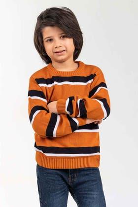 Black-Rust Fashion Sweater FS-KIDS-SWT-FD-29-01