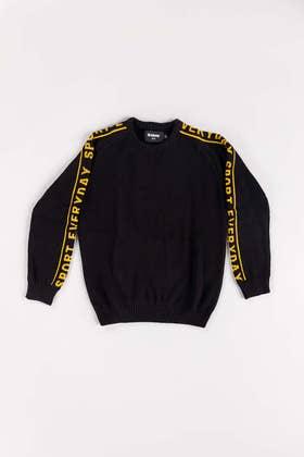 Black Cotton Sweater FS-KIDS-SWT-FD-19-01