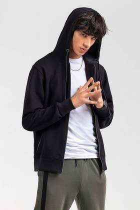 Black Fashion Hoodie JKT-HZJ-D50-02