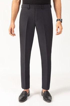 Black Flexi Waist Pants BLDFIP_007_SF