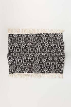 Black Greek Yarn Dyed Rug