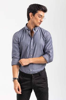 Black Smart Casual Shirt CM-YD-2903 SC