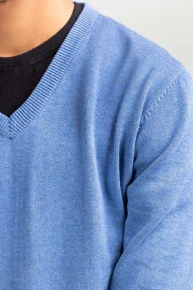 Blue Basic Sweater FS-SWT-D35-04