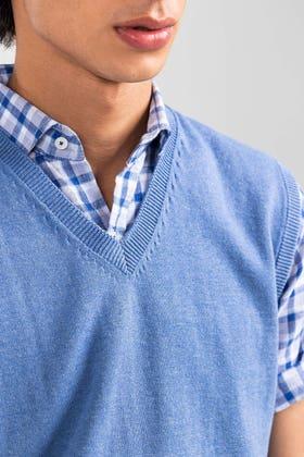 Blue Basic Sweater SL-SWT-D21-02