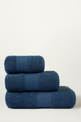 Blue Combed Towel Plain