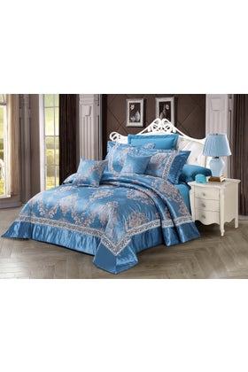 BLUE MOON Jacquard Bedspread Set