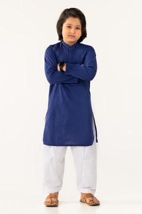 Blue Striped Basic Kids Kurta KKP-1750