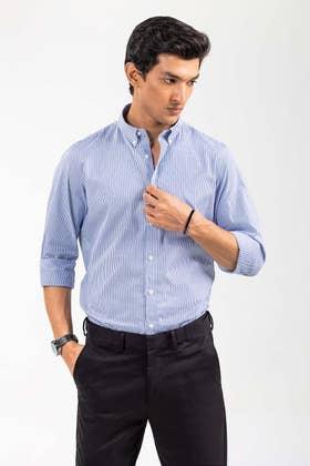 Blue White Striped Smart Casual Shirt CM-YD-2893 SC