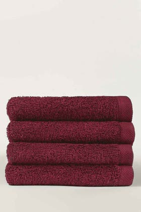 Blush Combed 4 Pcs Face Towel Set