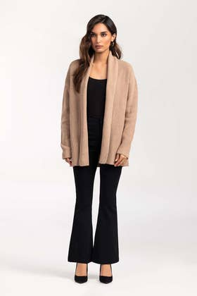 Cotton Front Open Cardigan SWT-FW21-027 B