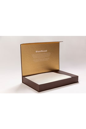Off White Unstitched Fabric With Gift Box X-Series - Executive Collection Emerald