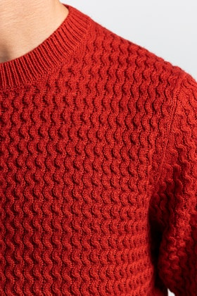 Brick Red Fashion Sweater FS-SWT-ACR-FD-425-01