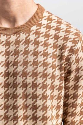 Brown-Beige Fashion Sweater FS-SWT-VPN-FD-412-01